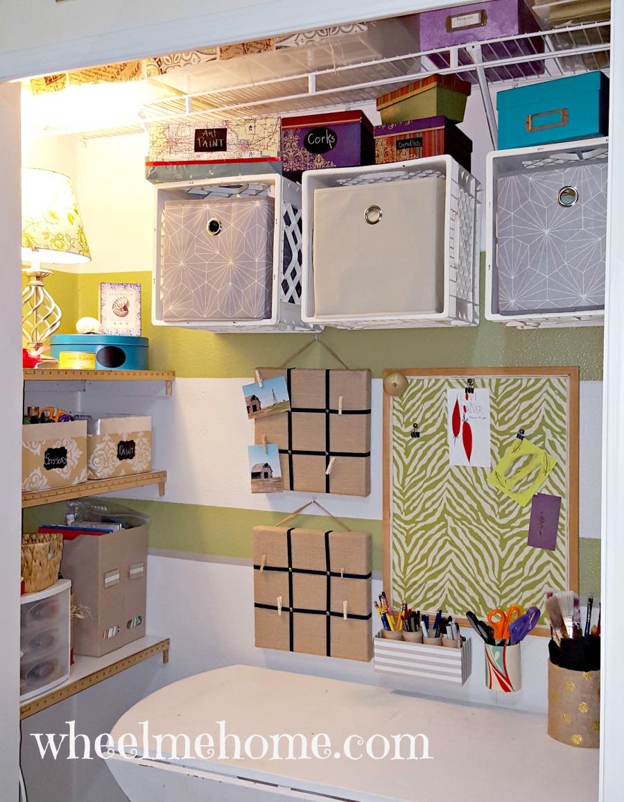 closet turned into craft work station