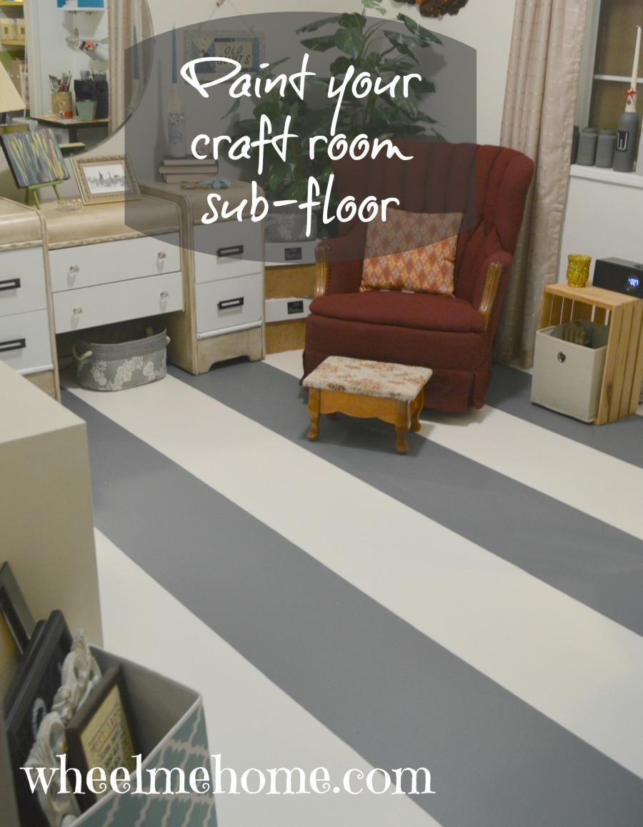 paint modular sub floor